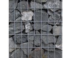 Steinkorb-Gabione eckig, Maschenweite 5 x 10 cm, Tiefe 50 cm, Spiralverschluss, galvanisch verzinkt (50 x 50 x 50 cm)