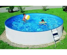 Mountfield AZURO Basic V5 Stahlwandpool Set, Ø 360 x 90 cm, Pool, Innenfolie, Leiter, mit Skimfilter Azuro 2000 Filteranlage