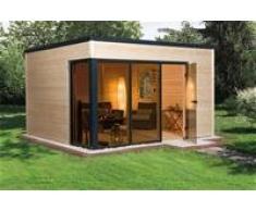 Weka Gartenhaus, Designhaus wekaLine 412 Größe 1, 45 mm, braun, 388x314x249 cm, 412.3830.00.00