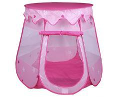 Spielzelt Spielhaus GIRLY, in rosa/pink, mit Prinzessinen Motiv und abnehmbarem Dach für Mädchen