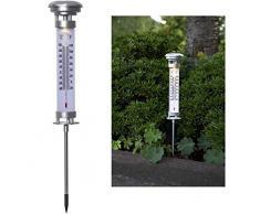 netproshop LED Solar Thermometer und Licht mit Erdspieß Outdoor