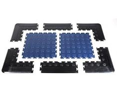 Metakfloor Kanten für Bodenplatten, 4 St. Bodenschutzmatten, Schutzmatten, Bodenfliesen, Trittplatten aus Kunststoff