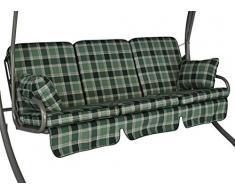 Angerer Comfort-Schaukelauflage 3-Sitzig Design Rio grün