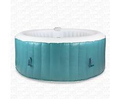AQUAPARX Whirlpool AP-800SPA *rund Ø 180cm* Pool 4Personen Wellness Jacuzzi Spa Whirlpoolzubehör Badewanne Wanne 4P Indoor Outdoor Heizung aufblasbar