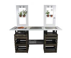 Rogge´s RelaxGrill Outdoorküche BBQ-Door, Außenküche, Gartenküche, Sommerküche, mit Edelstahl-Einbaugrill