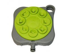 Xclou Rasensprenger zur Gartenbewässerung - Sprinkleranlage für den Garten Sprinkler, Grau/Grün, 20 x 4 x 17.5 cm