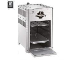 Jamestown Brad XS Steakgrill mit Hochleistungs-Gasbrenner für Temperaturen von bis zu 800°C inkl. praktischer Fett-Auffangschale | Hochwertiger Gasgrill für die Zubereitung Perfekter Beef-Steaks