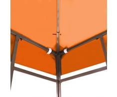 Pavillondach Pavillon Ersatzdach für Pavillons | 310 g/m² 3x3 m Orange | Gartenzubehör, wetterfest, wasserabweisend, imprägniert, Zeitloses Design, naturfarben | für Pavillon Faltpavillon