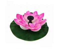 FairOnly Solarbetriebener Lotus-Form-Brunnen ohne Lampe Rosa