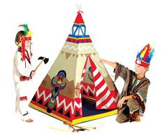 Micasa Indianerzelt Wigwam 100x100cm Tipi Kinderzelt Kunststoff Zelt für Kinder Spielzelt