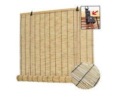 ZDY Roll-up Reed Shade Bambus Jalousien Vintage Fenstervorhänge, für die Dekoration Patio Balkon Deck Pavillon römische Sonnenschutz Fensterläden mit Lifter, anpassbar