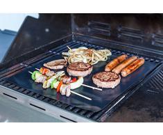 Set aus 2 Höchste Qualität BBQ Grill & Backen Mats [Wie im TV gesehen] | 100% Non-Stick | Reusable für Jahre | Made in FDA-zertifizierten Einrichtung | Frei von PFOA | funktioniert auf jedem BBQ Grill oder Backofen Backform