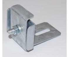 KLAMMER mit ZAUN-HALTER für Steinkorb Gabione feuerverzinkt (5 x 5 cm)
