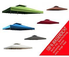 habeig Ersatzdach 340g/m² Dach EXTRA STARK PVC Beschichtung Pavillondach 100% Wasserdicht Pavillon ca 3x3m NEU (Anthrazit)