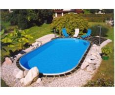 Stahlwandbecken Spar Set oval 3,50m x 7,00m x 1,50m Folie 0,8mm Pool Pools Ovalbecken Ovalpool