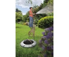 Gardena 8253-20 Schlauchbox Pipeline; mit Spiralschlauch; wird im Boden installiert; Wasserstop am Ende des Spiralschlauchs (Zur Reinigung oder Bewässerung; 1 Außengewinde; Schlauchlänge: 10m)