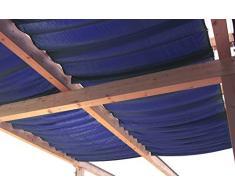 Windhager Sonnensegel für Seilspanntechnik Sonnenschutz Segel 270 x 140 cm, ideal für Pergola oder Wintergarten, DUNKEL-BLAU 10815