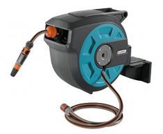 Gardena 08022-20 Schlauchbox Comfort zur Wandmontage (Schlauchtrommel mit Automatic Einzug, Box um 180 Grad schwenkbar), Schlauchlänge 15 m