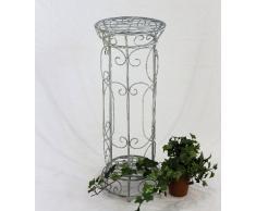 DanDiBo Blumensäule Romance 20305 Rund 63 cm Blumenhocker aus Metall Blumenständer Hocker
