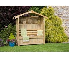 zest4leisure Hampshire Gartenlaube mit Aufbewahrungsbox – Holz