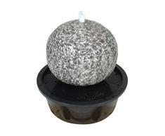 Naeve Leuchten LED Brunnen für Aussen mit Kugel, steinoptik, 57 x 57 x 56 cm, 518616