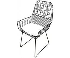 Sessel DBL Schmiedeeisen Stuhl, Goldene kreative Heimat, einfach und Casual Tea Shop Cafe Chair (Color : Black, Size : 43x53x93CM)