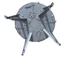 Utschak, H: 69 cm, Durchmesser: 55,5 cm, für 28L Kasan / Feldküche, Gulaschkessel Feuerkessel Kessel Outdoor