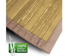 Bambusläufer Tibet (Natur)   für Bad und Wohnzimmer   natürlich wohnen mit 100% echtem Bambus   Bambusmatte in vielen Größen (70x200 cm)