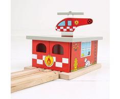 Unbekannt BJT262 Houten Rails - Brandweerkazerne Spielzeug › Hobbys › Modellbau › Vorgefertigte & Druckgussmodelle › Modelleisenbahn › Zubehör › Geländebau › Gleisbau