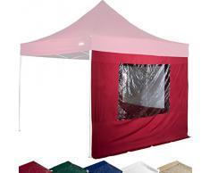 STILISTA® 2x Seitenteile für 3x3 m Pavillon MIT Fenster, Farbwahl, wasserabweisend, versiegelte Nähte