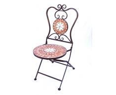 DanDiBo Stuhl Mosaik Merano 12002 Gartenstuhl H-93 cm Metall Gartenmöbel Klappstuhl