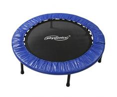 Physionics Fitness Mini-Trampolin - Auswahl des Durchmessers (81, 91, 96, 102, 114, 122 cm), Robust und Stabil (Anti-Rutsch Gummi Füße) - Jumping, Sport-Trampolin