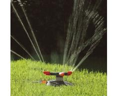 GARDENA Classic Kreisregner Samba: Rasensprenger für gleichmäßige Bewässerung durch Präzisions-Düsenköpfe, für Flächen bis max. 250m², mit integriertem Schmutzsieb, max. Sprengbereich 18 m (2060-20)