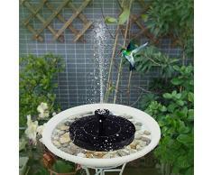 HYGJ Solarbrunnen Wasserbrunnen Gartenbrunnen Wasserfälle Solarvogel Schwimmbrunnen Wasserpumpenbrunnen