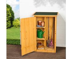 TecTake 402200 Gartenschrank mit Flachdach, 75 x 56 x 118 cm, Imprägniertes Nadelholz