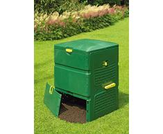 Juwel Komposter Aeroplus 6000, Kunststoff-Thermokomposter für Küchen- und Gartenabfälle, ca. 600 l Nutzinhalt, Regelbare Entlüftung, 79 x 79 x 110 cm, Art.- Nr. 20171