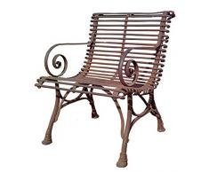 Casa Padrino Gartenstuhl aus Schmiedeeisen - verschiedene Farben - 65 cm x 60 cm - Luxus Gartenmöbel, Farbe:rost