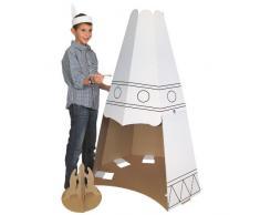 Indianerzelt aus Karton / Pappe 130cm, blanko zum Basteln und Bemalen
