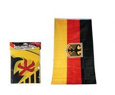 Deutschlandflagge,Deutschlandfahne mit Bundesadler für Fahnenmast,ca. 90 x 150 cm