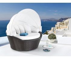 Strandkorb Dunkelbraun - Sonneninsel - Lounge - Wellness - Sonnenliege - Rattanmöbel - SYLT