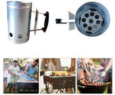 BBQ-Grill-Eimer Feuer Werkzeuge Charcoal Zündung Feuer-Starter Barrel Pelletofen Hot Ashes Kohlenstoff-Ofen mit Holz Griff