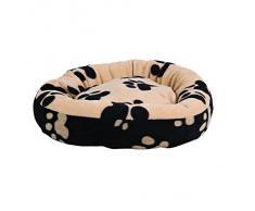 Trixie 37681 Bett Sammy, ø 50 cm, schwarz/beige