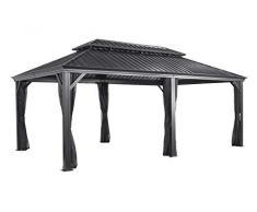 Aluminium Pavillon Überdachung Gazebo Messina 12x20 // 363x598 cm (BxH) // Sommer-Pavillon und Gartenlaube mit Hard-Top Dach von Sojag
