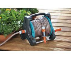 GARDENA Classic Schlauchtrommel 10 Set: Gartenschlauchset inkl. Schlauchtrommel und 10 m Schlauch, hohe Standsicherheit, Adapter, Spritze, Tragegriff, für Terrassen (8010-20)