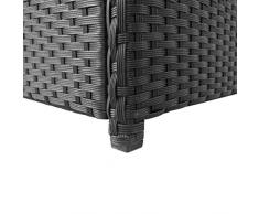 Tidyard Auflagenbox Garten Rattan Groß, Gartenbox Kissenbox Tischtruhe Truhe, mit Gasdruckfedern, 120×50×60 cm Schwarz