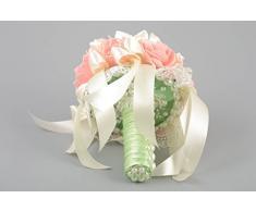Schöner origineller bunter feiner handmade Brautstrauß aus Stoff für Dekoration