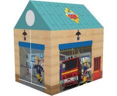 John 78203 - Feuerwehrhaus Sam - Spielzelt, Feuerwehrzelt, Kinderzelt, Spielhaus mit gedrucktem Motiv für Kinder
