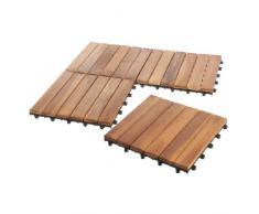 Ultranatura Terrassenfliesen Set aus Akazienholz, Standard, 11 Stück im Set