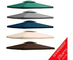 freigarten.de Ersatzdach für Pavillon 3x4 Meter Wasserdicht Material: Panama PCV Soft 370g/m² extra stark Modell 5 (Braun)