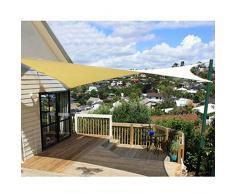 JDlept Sonnensegel, Rechteck Markisenüberdachung Außengarten Terrassenpflanze Swimmingpool 95% Beschattungsrate Sonnenschutz. (Color : Earth Yellow, Size : 3m*4m)